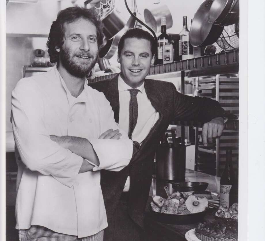 Jonathan Waxman, before he was known as the Jedi Chef. Pictured with Michael McCarty, 1991