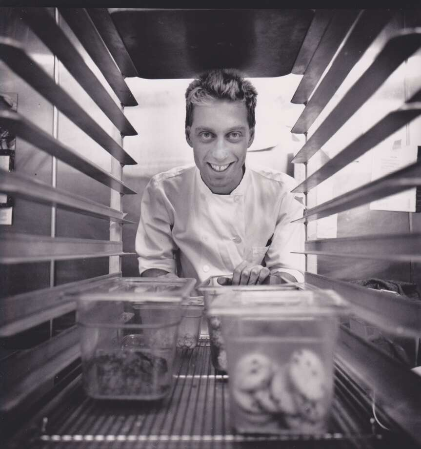 Pastry star David Lebovitz at Monsoon, 1990