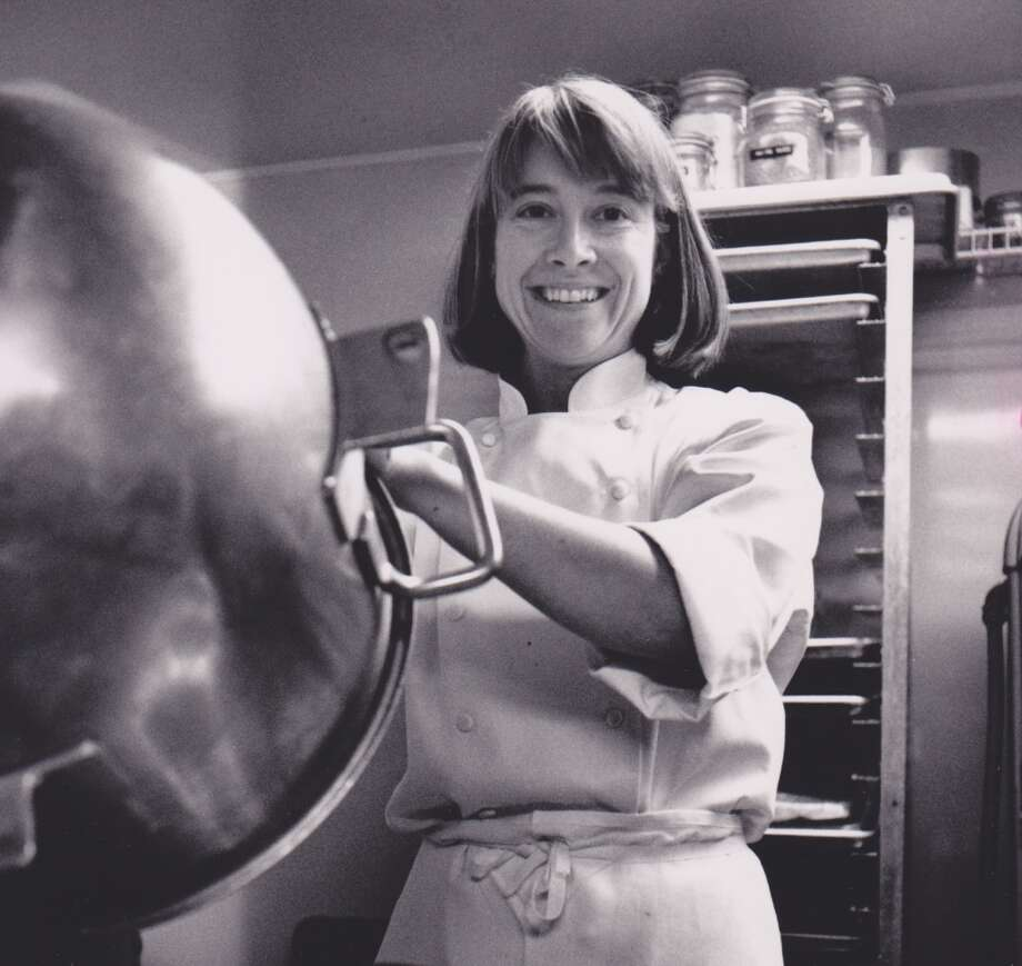 Another pastry star, Emily Luchetti, before she won James Beard Awards, while she was at Stars, 1990