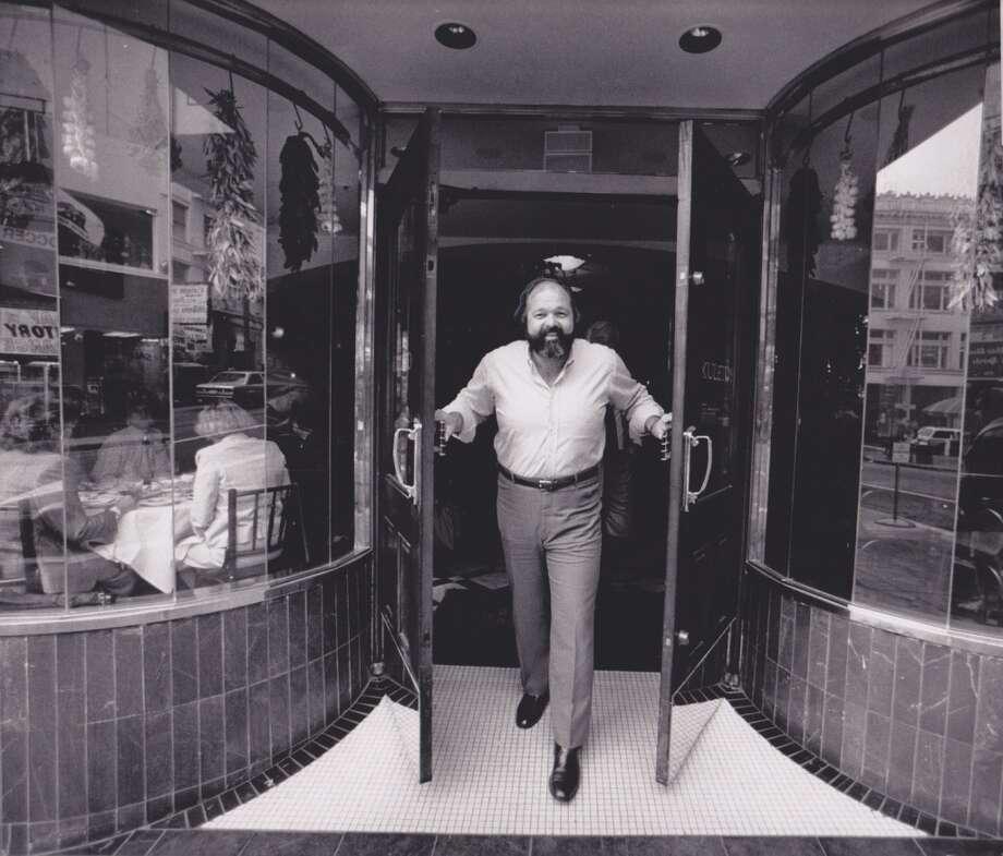 Pat Kuleto looking sharp at Kuleto's, 1989