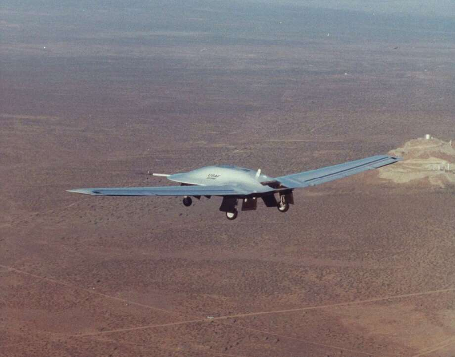 Lockheed Martin built the DarkStar High Altitude Unmanned Aerial Vehicle to provide battlefield commanders and intelligence agencies with reconnaissance data.  Photo: Carla Thomas, Time & Life Pictures/Getty Image / Time Life Pictures