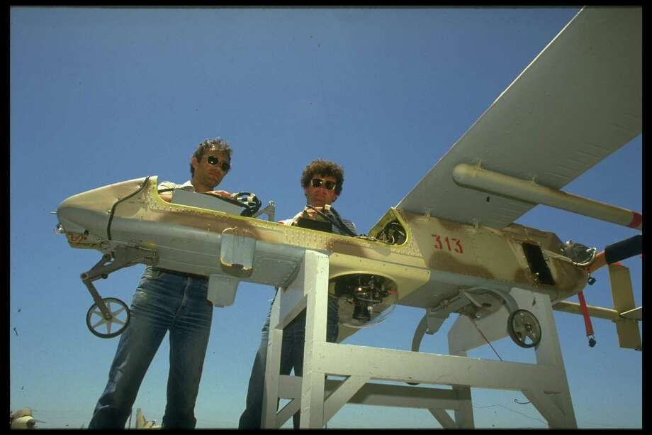 Israel Aircraft Industries workers assemble a drone in 1989. Photo: David Rubinger, Time & Life Pictures/Getty Image / David Rubinger