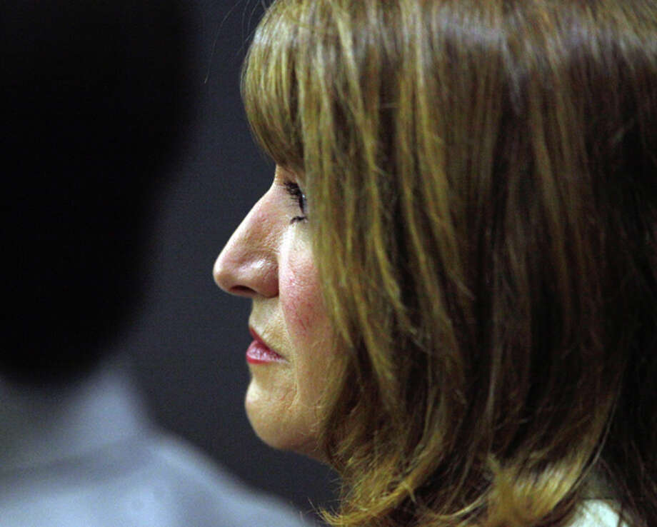 Lili Wilson, Scott Wilson's mother, listens during testimony as John Goodman's DUI manslaughter trial in Palm Beach County Court continues on Monday, March 19, 2012. The prosecution is expected to rest today and then the defense will begin to call its witnesses. He is accused of driving drunk and causing a wreck with 23-year-old Scott Wilson in which Wilson drowned in a canal. (AP Photo/The Palm Beach Post, Lannis Waters, Pool) Photo: Lannis Waters, Associated Press / OUT TV, MAGAZINES AND SALES