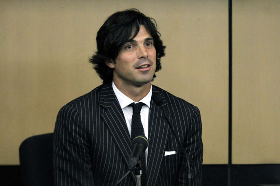 Ignacio Figueras, a professional polo player, best known as Nacho Figueras, testifies for the defense during John Goodman's DUI Manslaughter trial on Friday, March, 16, 2012, in West Palm Beach, Fla.  Goodman is accused of driving drunk and leaving the scene of the February 2010 crash that killed 23-year-old Scott Wilson. (AP Photo/The Palm Beach Post, Lannis Waters, Pool) Photo: Lannis Waters, Associated Press / OUT TY, MAGAZINES AND SALES