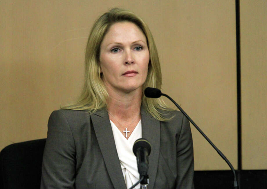 John Goodman's girlfriend, Heather Hutchins, testifies during court on Wednesday, March, 14, 2012, in West Palm Beach, Fla .(AP Photo/The Palm Beach Post, Lannis Waters, Pool) Photo: Lannis Waters, Associated Press / Pool, Palm Beach Post