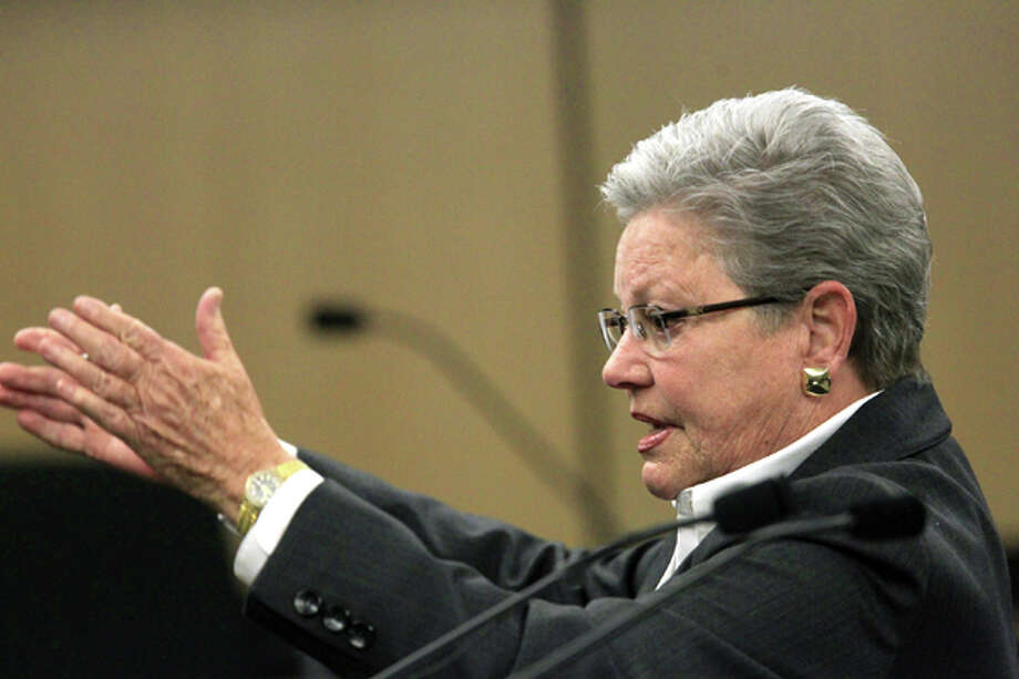 Assistant State Attorney Ellen Roberts makes her open statements to jurors on the first day of John Goodman's DUI Manslaughter trial in West Palm Beach, Fla., Tuesday, March 13, 2012. Goodman is accused of driving drunk and leaving the scene of the February 2010 crash that killed 23-year-old Scott Wilson. (AP Photo/The Palm Beach Post, Lannis Waters, Pool) Photo: Lannis Waters, Associated Press / Pool, Palm Beach Post