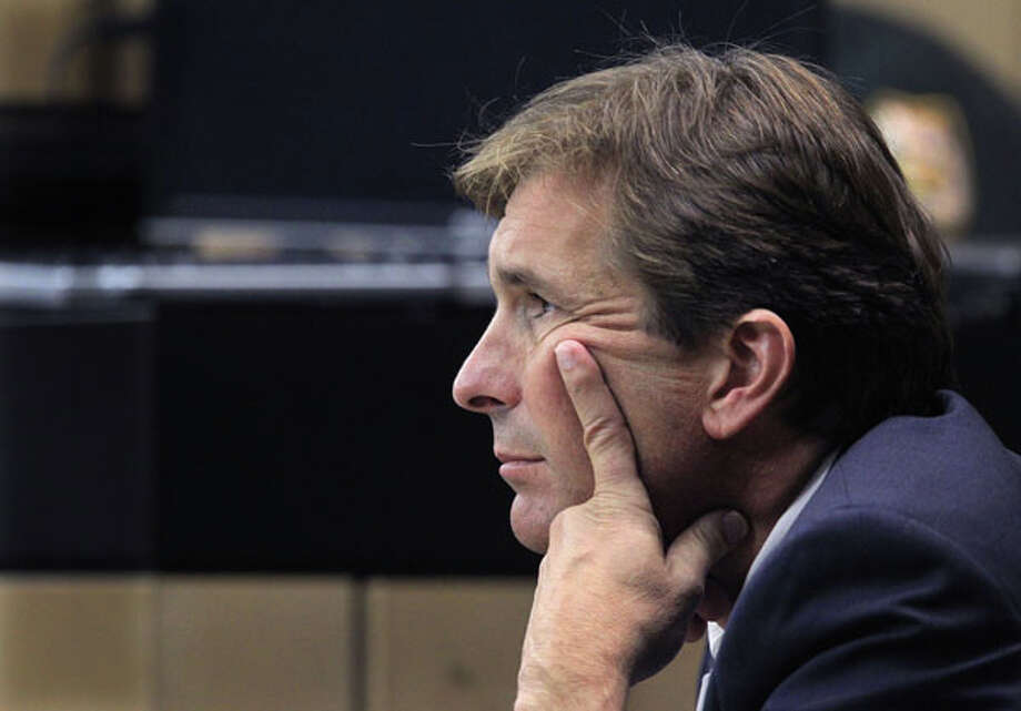 John Goodman listens to Judge Jeffrey Colbath speak to the jury during the third day of jury selection in the drunken-driving manslaughter case of multimillionaire polo mogul John Goodman, Thursday, March 8, 2012 in West Palm Beach, Fla. (AP Photo/Palm Beach Post, Lannis Waters, Pool) Photo: Lannis Waters, Associated Press / Pool, Palm Beach Post
