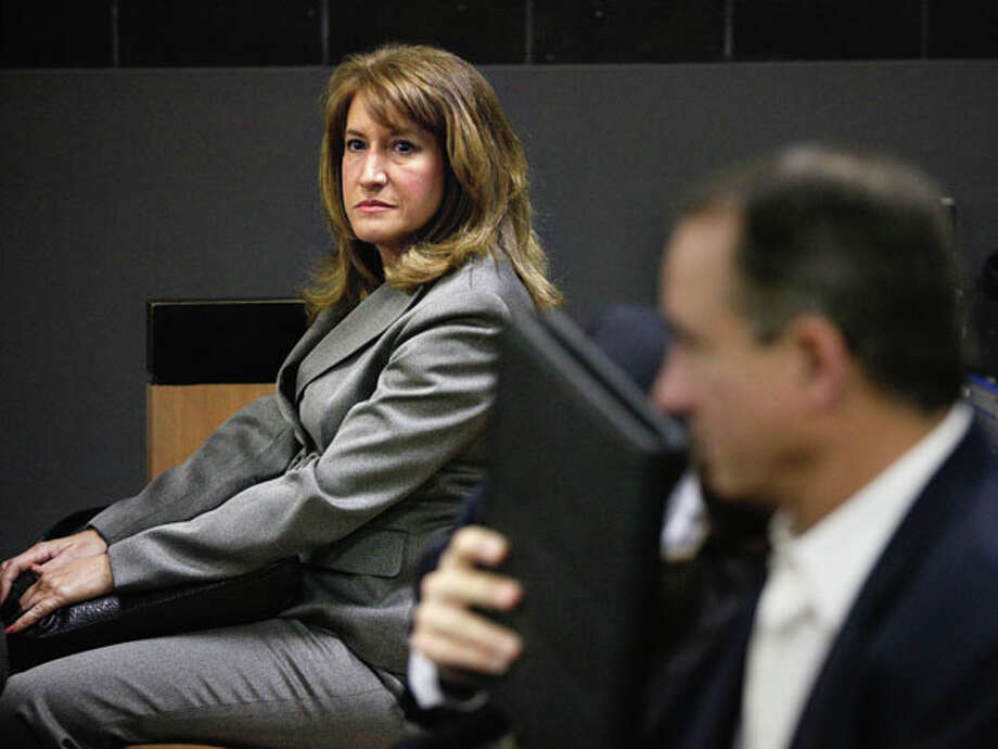Lili Wilson, left, mother of Scott Wilson, waits for jury selection to begin for the DUI manslaughter trial of John Goodman in West Palm Beach, Fla., Wed., March 7, 2012. Goodman is accused of driving drunk and leaving the scene of the February 2010 crash that killed 23-year-old Scott Wilson. (AP Photo/ The Palm Beach Post, Lannis Waters, Pool) (AP Photo/Palm Beach Post, Lannis Waters, Pool) Photo: Lannis Waters, Associated Press / Palm Beach Post POOL