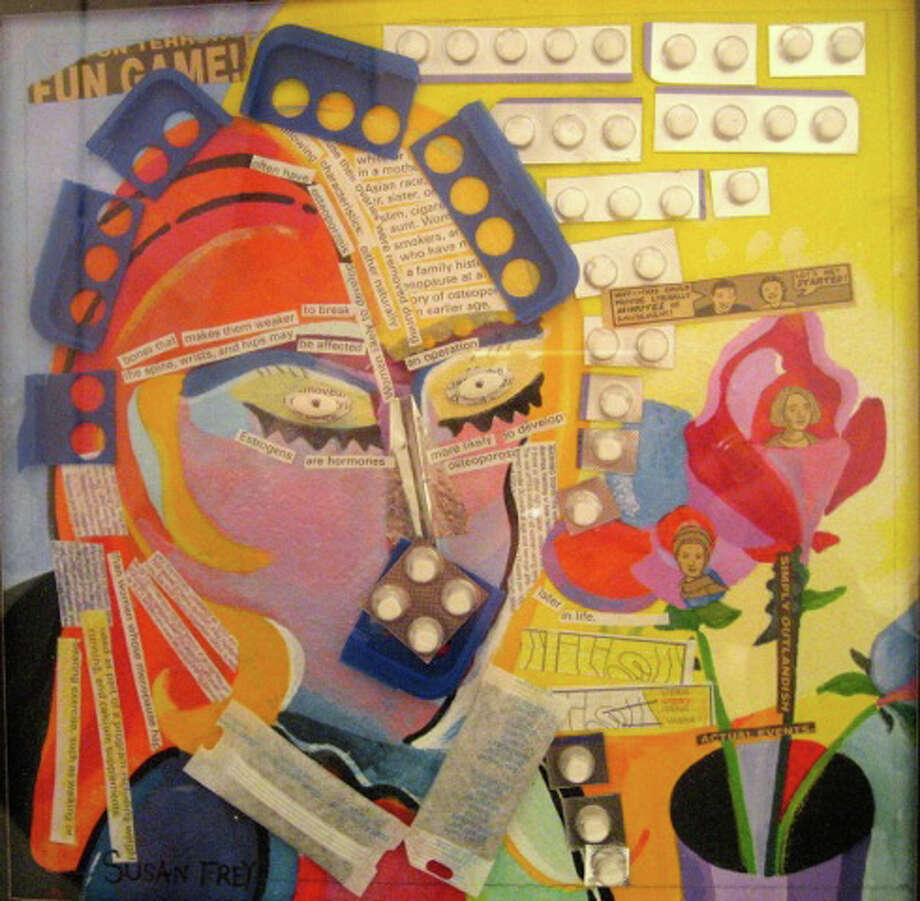 """This is one of several pieces mixed media artist Susan Frey of Stamford will have in the exhibition """"Transformations 2,"""" which will run through Sunday, April 21, 2013, at the Loft Artists Association's gallery space at 845 Canal St., Stamford. An opening reception is planned for Friday, March 29, 2013, from 6 to 8 p.m.. For more information, call 203-323-4153 or visit http://www.loftartists.com. Photo: Contributed Photo"""