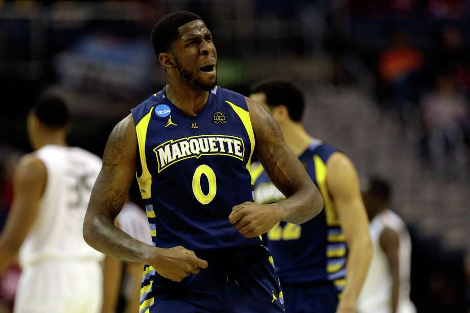 WASHINGTON, DC - MARCH 28:  Jamil Wilson #0 of the Marquette Golden Eagles reacts after a play against the Miami (Fl) Hurricanes during the East Regional Round of the 2013 NCAA Men's Basketball Tournament at Verizon Center on March 28, 2013 in Washington, DC. Photo: Rob Carr, Getty Images / 2013 Getty Images