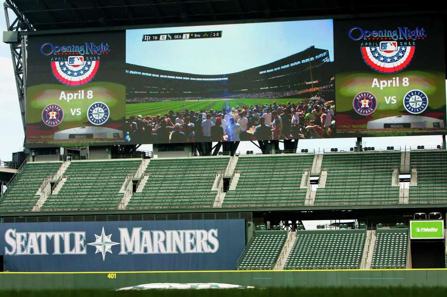 4) The new video screen. It's huge and impressive. It won't help the Mariners win, but it will enhance ballpark enjoyment. Say what you will, but I'm looking forward to super-sized hydro races in HD. Photo: JORDAN STEAD / SEATTLEPI.COM