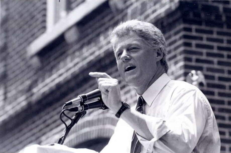 In 1992, then Governor Bill Clinton of Arkansas, who was also the front-runner for the Democratic presidential nomination, said in a television interview: ''When I was in England, I experimented with marijuana a time or two, and didn't like it. I didn't inhale and I didn't try it again.''That statement - ''I didn't inhale'' - is another surprising moment, mostly because it was laughably unbelievable. But, no one really cared one way or another and that should have been a sign to politicians then that attitudes toward pot were changing. Photo: RacingOne, ISC Archives Via Getty Images / 2010 RacingOne