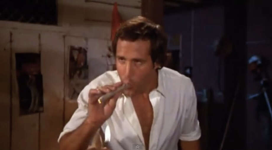 A semi-surprising marijuana moment was when Bill Murray gets Chevy Chase to give it a try in ''Caddyshack in 1980.