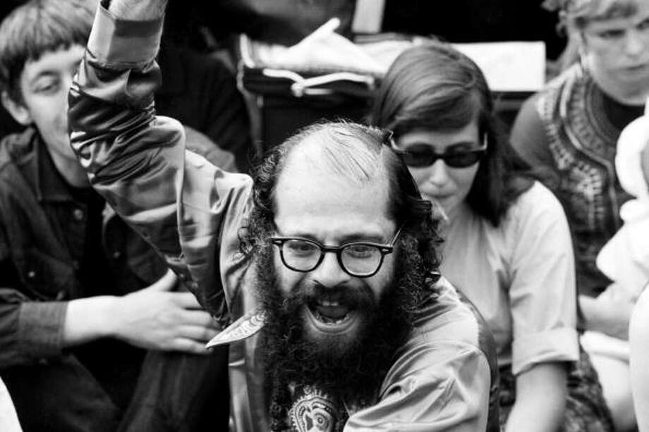 That beat poet Allen Ginsberg was into marijuana surprised no one, but that he was able to pull off several pro-pot rallies - out in the open! - surprised and alarmed some citizens. One of those pro-marijuana marches took place outside the Women's House of Detention on Sixth Avenue in lower Manhattan on Jan. 10, 1965. Photo: Andrew Maclear, Redferns / Redferns