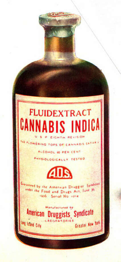 Cannabis fluid extract medicine bottle from 1906 (Wikimedia Commons)