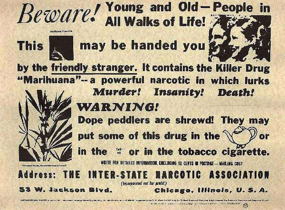 Federal Bureau of Narcotics public service announcement used in the late 1930s and 1940s. (Wikimedia Commons)