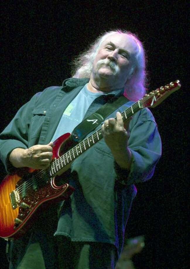 David Crosby, of Crosby, Stills and Nash, performs May 3, 2003 during the Music Midtown concert in Atlanta, Georgia. Crosby was arrested on marijuana and guns possession charges March 6, 2004 in New York City.Photo By Steve Schaefer/Getty Images