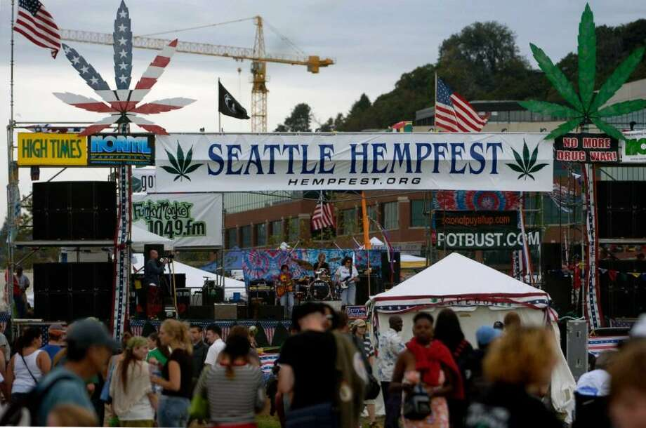 Seattle's Hempfest opens on August 21, 2004. The event is billed as the world's largest drug-policy reform rally.Photo By Ron Wurzer/Getty Images