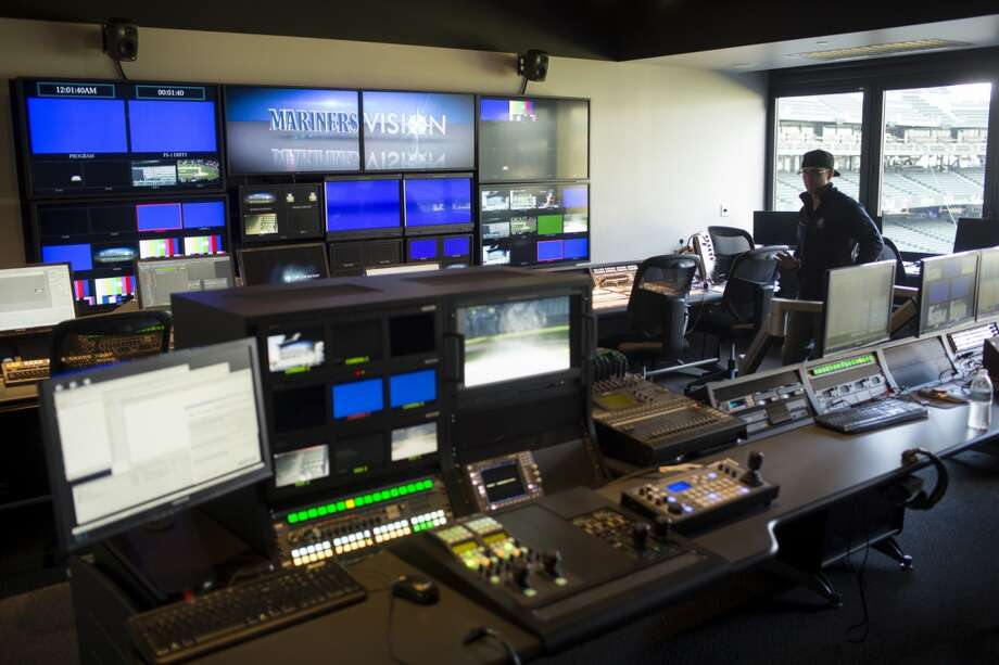 A view of the control room for Safeco Field's new ''MarinersVision'' high-definition LED screen Thursday in Seattle.