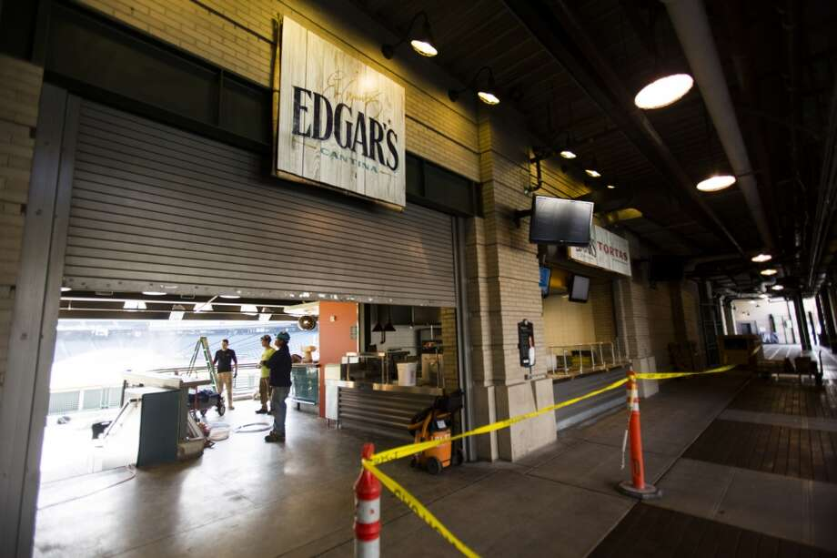 A view of the new, open air restaurant, Edgar's Cantina, Thursday in Seattle.