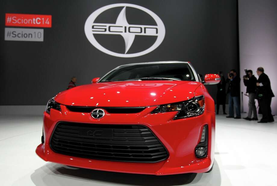 The Toyota Motor Corp. 2014 Scion tC vehicle is unveiled during the New York International Auto Show. Photo: Jin Lee, Bloomberg / © 2013 Bloomberg Finance LP