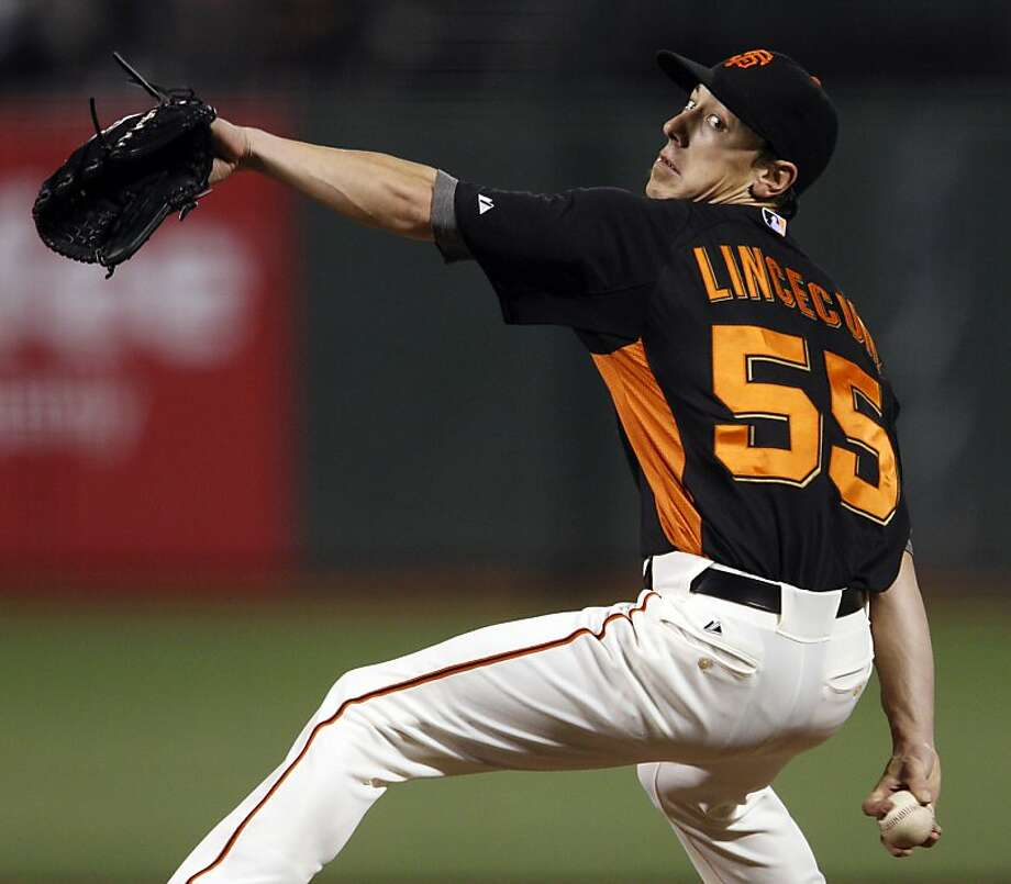 Tim Lincecum started the game for the Giants on Thursday. The San Francisco Giants played first home preseason game of the 2013 season against the Oakland Athletics at AT&T Park in San Francisco, Calif., on Thursday, March 28, 2013. Photo: Carlos Avila Gonzalez, The Chronicle