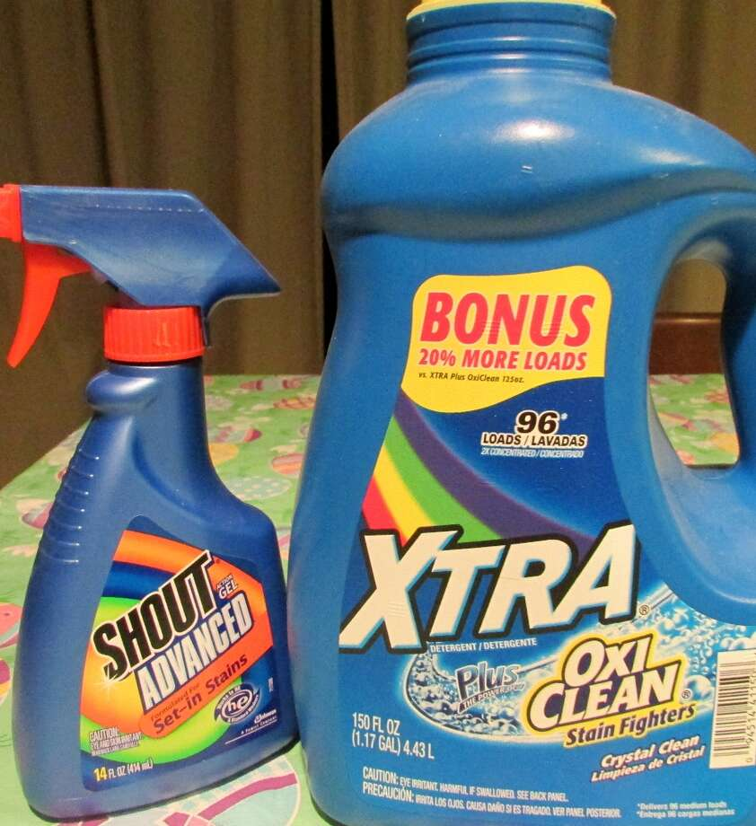 Laundry detergents, and stain removers can even be made with HDPE for its hard plastic container. Photo by Erik DeFruscio. Photo: Picasa