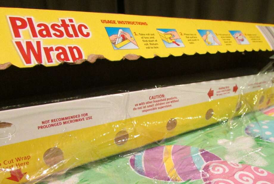 Plastic wrap is another plastic that is made of low-density polyethylene for its durability when it stretches and is safe to use with food. Photo by Erik DeFruscio. Photo: Picasa