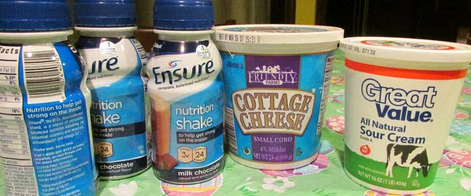 Nutrition shake, cottage cheese and sour cream containers can be made of polypropylene plastic which makes a good food and drink package. Photo by Erik DeFruscio. Photo: Picasa