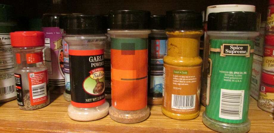 Spices are also made with PP because they need thick plastic containers to keep out moisture and keep the spices fresh. Photo by Erik DeFruscio. Photo: Picasa