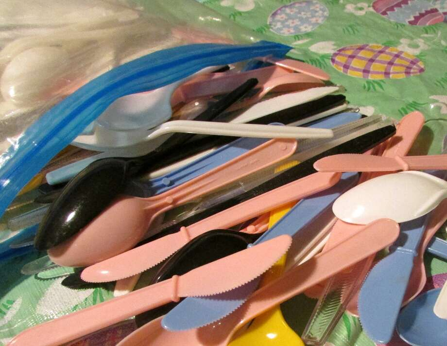 Plastic cutlery is made of PS which is extremely dangerous and is commonly used at picnics or large family events as a cheap substitute to actual silverware. Not only are the spoons and knives harmful, but so are the cups and plates that are also reusable. Photo by Erik DeFruscio. Photo: Picasa