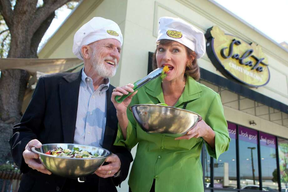 Tina MacInnes and her father, Jay Tribble, will run a Salata franchise in Westchase.More: Chain's business is mushrooming Photo: Johnny Hanson, Houston Chronicle / © 2013  Houston Chronicle