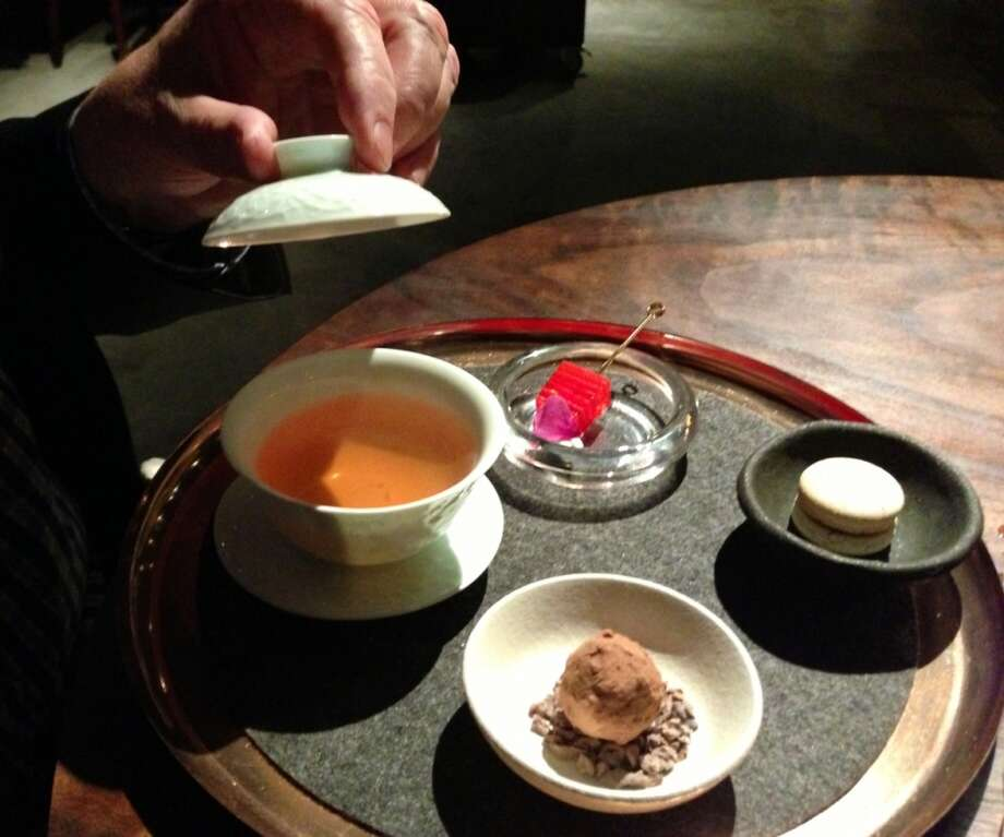 Tea service at Saison