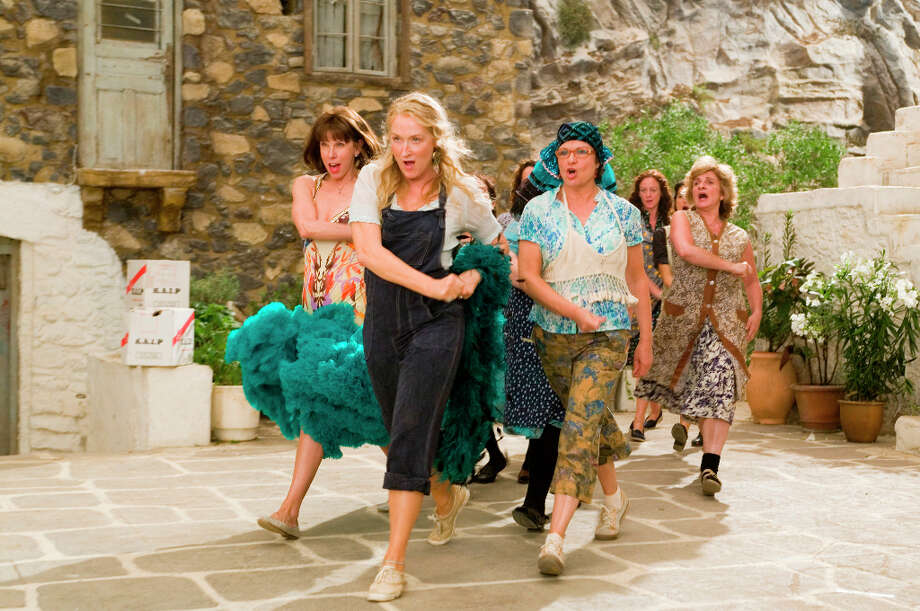 In 'Mamma Mia,' Meryl Streep (center) proved there's at least one thing that she can't do: sing. Photo: Peter Mountain, Universal Pictures / PETER MOUNTAIN