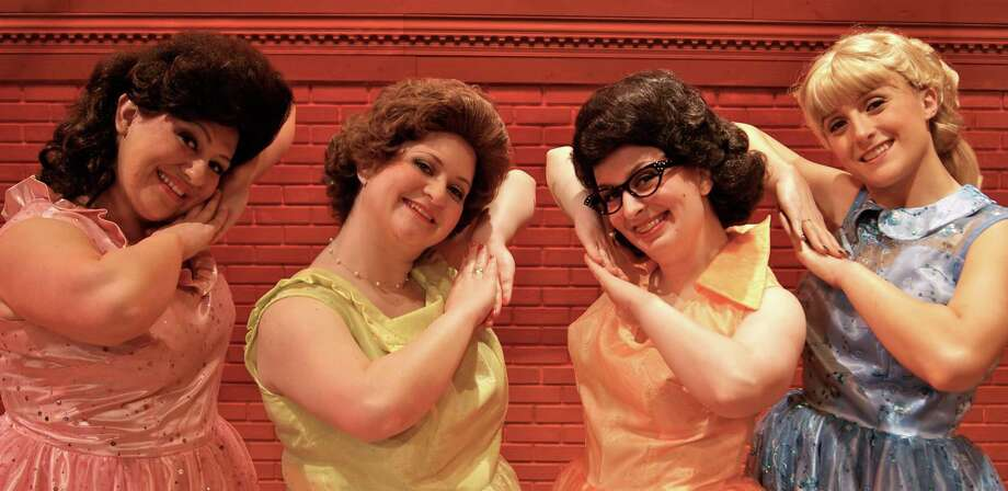 "From left: Casey Perruzzi, of Stratford; Fiona Bryson, of Shelton; Melissa Rampton, of Shelton; and Caitlin O'Keefe Boles, of Newtown, starring in ""The Marvelous Wonderettes"" in April at Center Stage Theatre in Shelton. Photo: Contributed Photo"