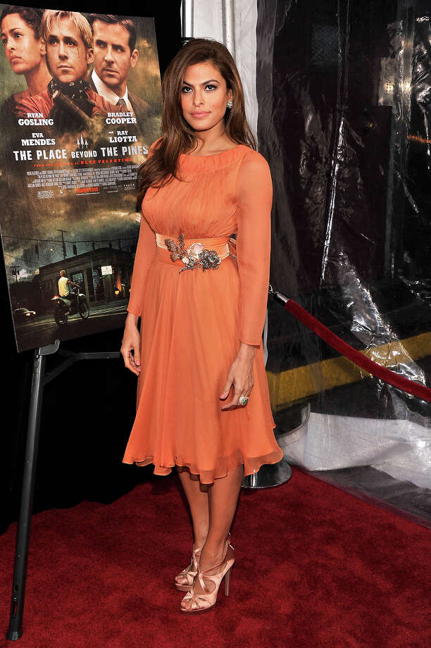 "Actress Eva Mendes attends ""The Place Beyond The Pines"" New York Premiere at Landmark Sunshine Cinema on March 28, 2013 in New York City. Photo: Stephen Lovekin, Getty Images / 2013 Getty Images"
