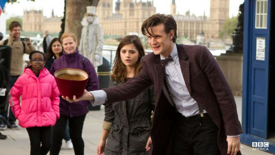 "The Doctor (Matt Smith) battles evil with a new companion (Jenna-Louise Coleman) in upcoming episodes of Season 7 of ""Doctor Who."""