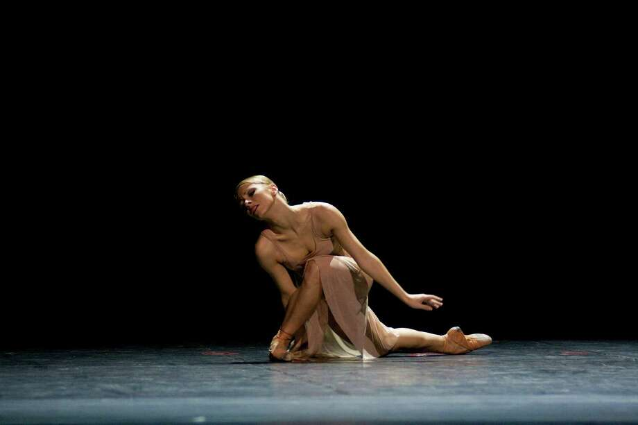 "Aleksandra Liashenko of Polish National Ballet in Krzysztof Pastor's ""Kurt Weill Suite,"" one of the works given its U.S. premiere at the Dance Salad Festival Thursday. Photo: Ewa Krasucka"
