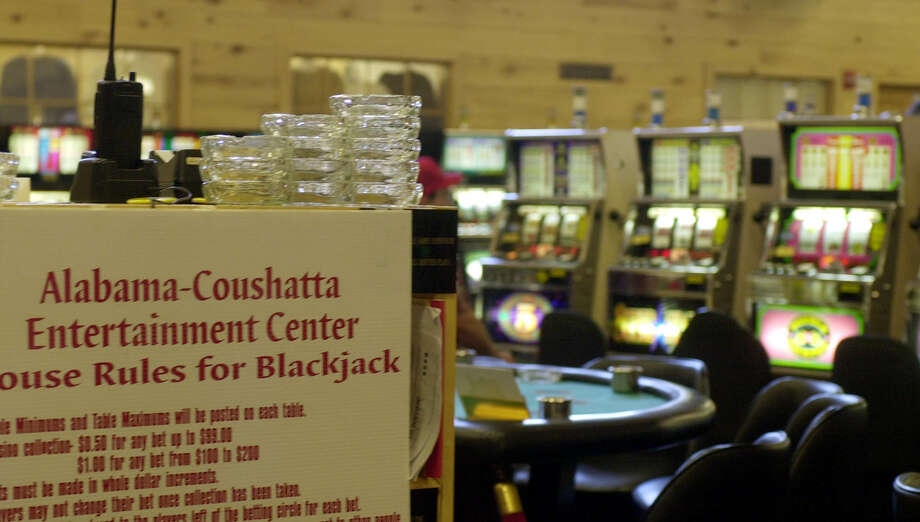 A sign specifies the rules at the tribe's casino, which closed in 2002. Photo: PAT SULLIVAN, AP / AP