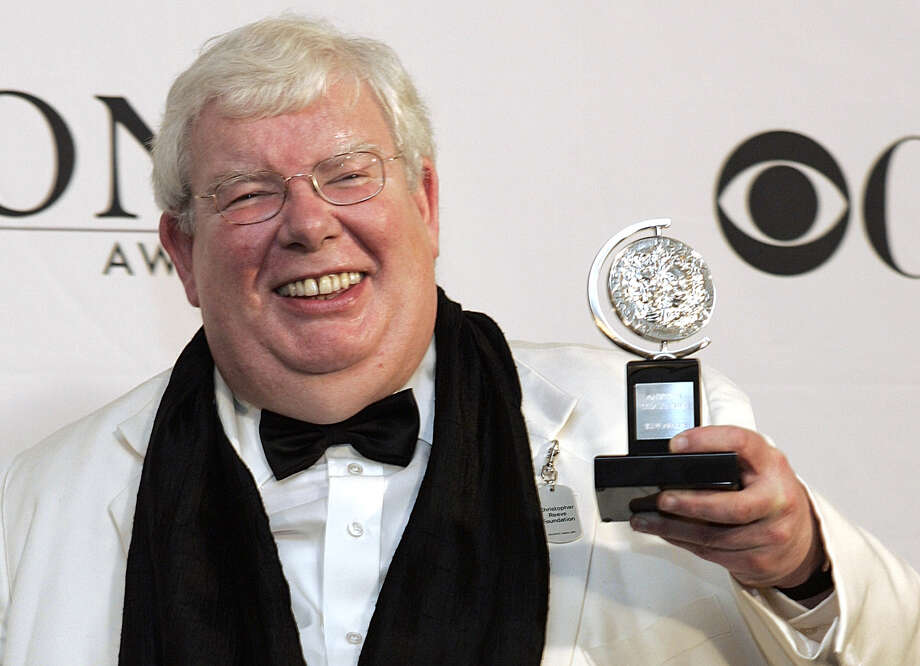"""Richard Griffiths of """"The History Boys"""" poses for a picture with his Tony for Best Performance by a Leading Actor in Play at the 60th Annual Tony Awards in this Sunday, June 11, 2006 file photo  in New York. Griffiths, the British actor who played the boy wizard's unsympathetic Uncle Vernon in the """"Harry Potter"""" movies, has died. He was 65.  Agent Simon Beresford announced Friday March 2013 that Griffiths died Thursday of complications following heart surgery at University Hospital of Coventry in central England. (AP Photo/Richard Drew, file) Photo: SETH WENIG"""