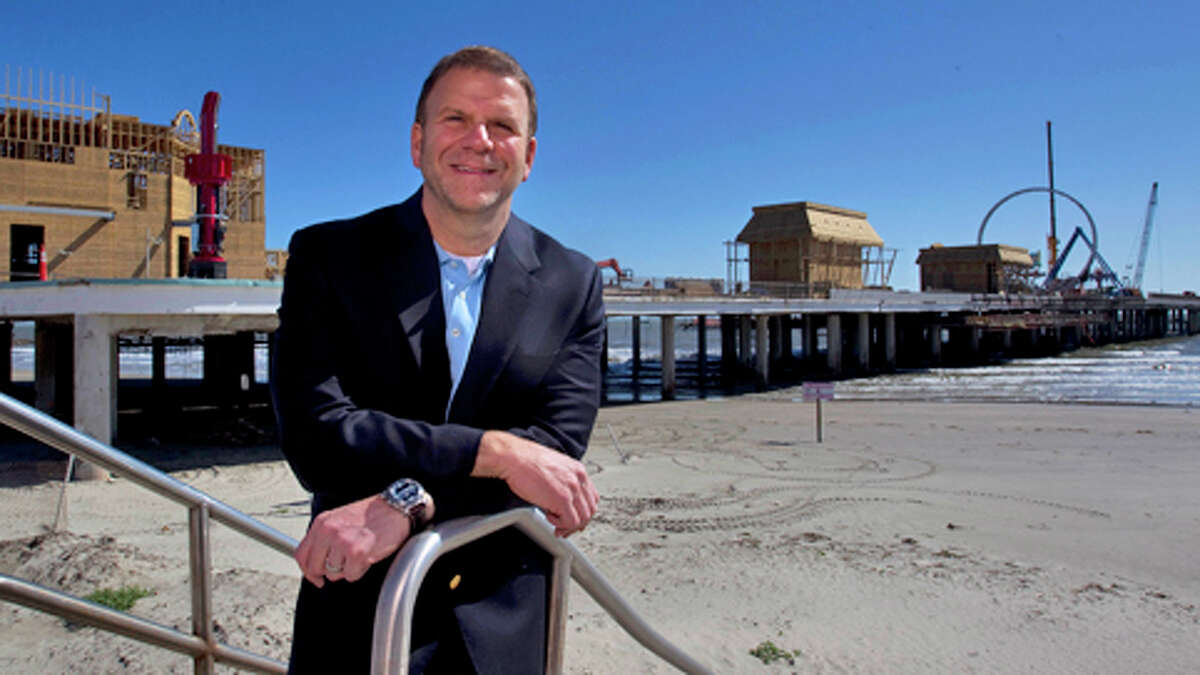 He was born in Galveston and now owns some of the fanciest properties in the island.  The family's roots go back deep in the island community. Tilman Fertitta's great-great uncles were legendary bootleggers in Galveston, according to a Texas Monthly feature. In his hometown, Fertitta owns the Pleasure Pier and the Galveston villas at the San Luis Resort.