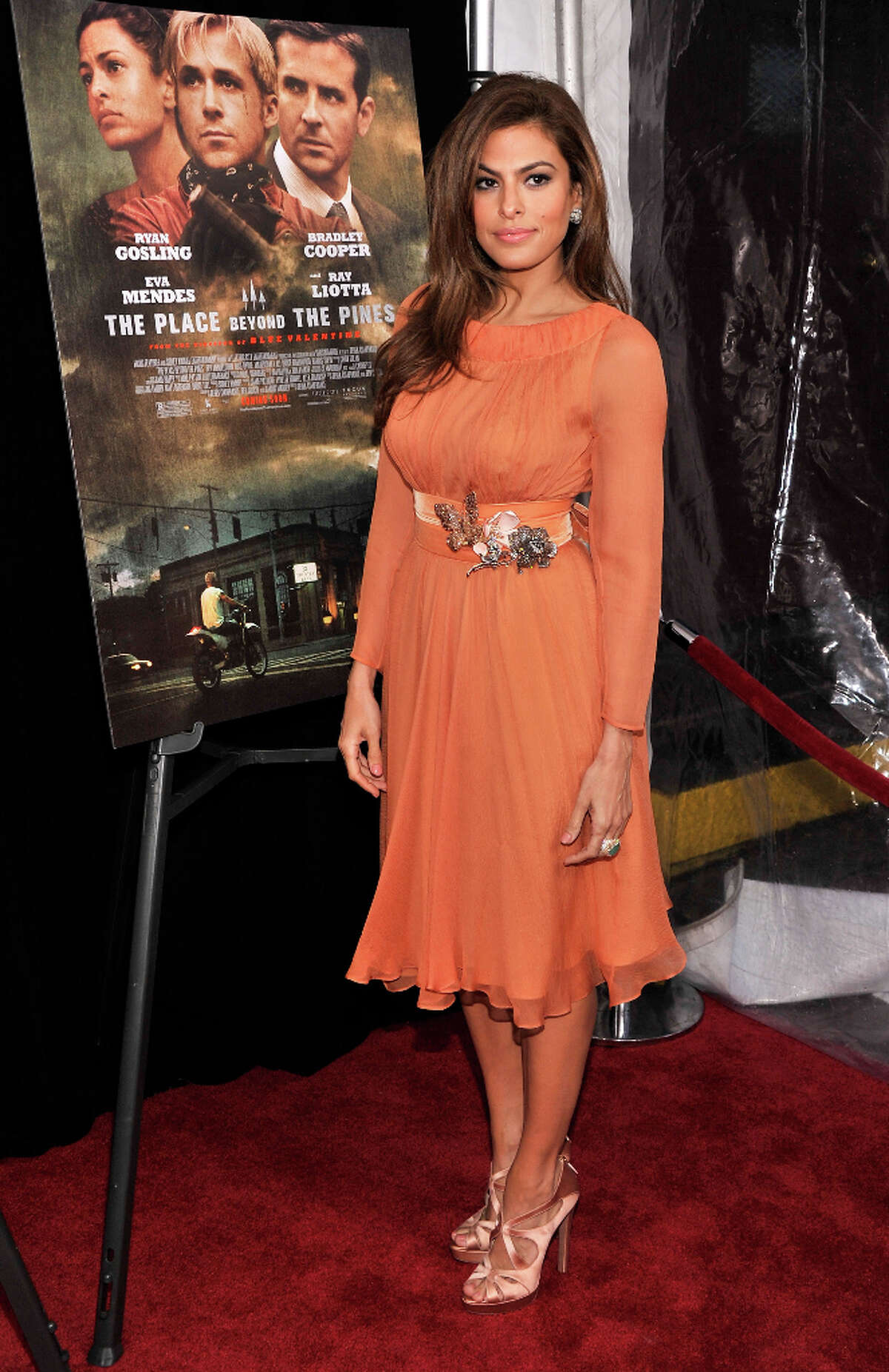 Actress Eva Mendes attends 'The Place Beyond The Pines' New York Premiere at Landmark Sunshine Cinema on March 28, 2013 in New York City.