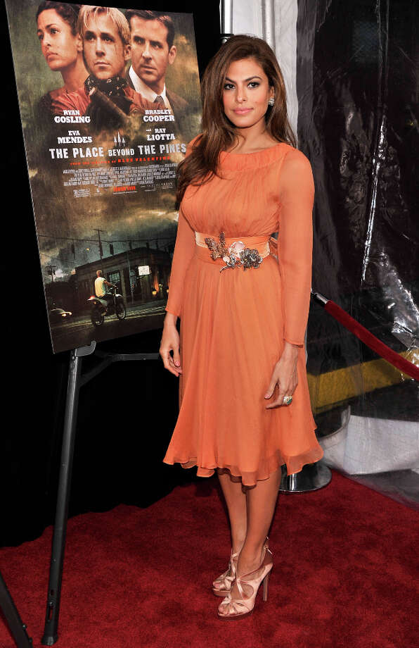 Actress Eva Mendes attends 'The Place Beyond The Pines' New York Premiere at Landmark Sunshine Cinema on March 28, 2013 in New York City. Photo: Stephen Lovekin, Getty Images / 2013 Getty Images