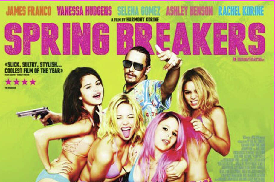 """Spring Breakers,"" starring James Franco, Selena Gomez, Vanessa Hudgens and Ashley Benson, is now playing in area movie theaters. Photo: Contributed Photo / Westport News contributed"