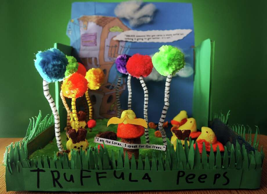 6-year-old Samuel Reisch Peeps diorama creation was inspired from The Lorax book by Dr. Seuss. 2012 Photo: Cyrus McCrimmon, Denver Post Via Getty Images / Denver Post