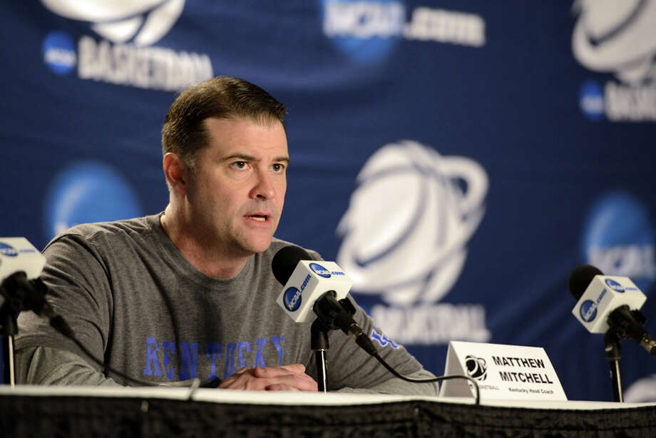 Kentucky women's basketball head coach, Matthew Mitchell, speaks to the media during a press conference at Webster Bank Arena in Bridgeport, Conn. on Friday, March 29, 2013. The Kentucky Wildcats will play the Delaware Blue Hens in the NCAA Bridgeport regional semifinals Saturday March 30th at noon. Photo: Mark Conrad / Connecticut Post Freelance