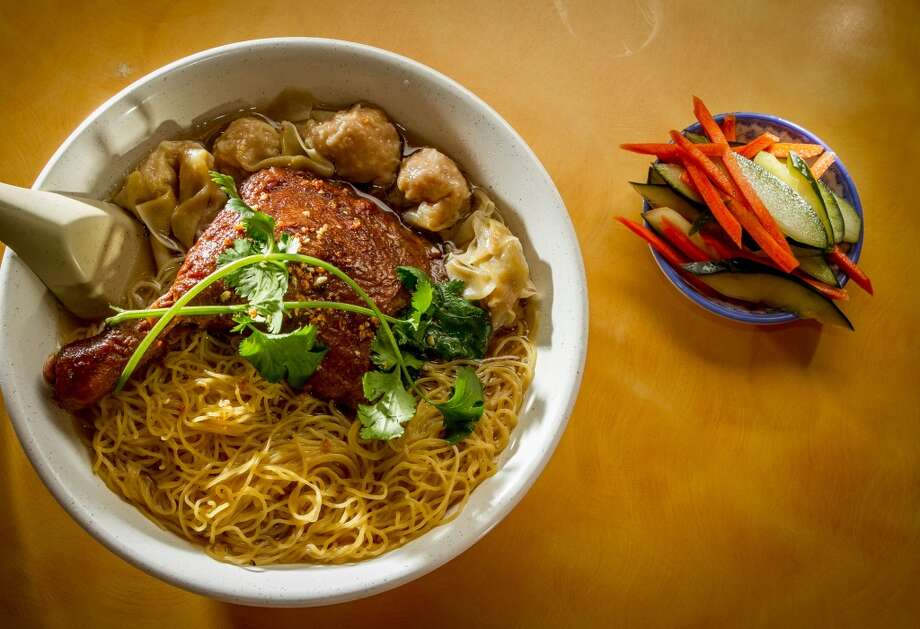 The Braised Duck Leg with Won Ton Egg Noodle Soup at Hai Ky Noodle House ($7.59)