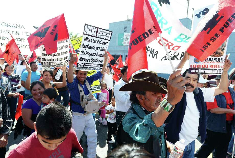 Hundreds of people march in Oxnard, Calif., for immigration reform and to honor the legacy of César E. Chávez, founder of the United Farm Workers of America. Some want a Chávez holiday, but that might not be the best way to commemorate his legacy. Photo: Joe Klamar / Getty Images