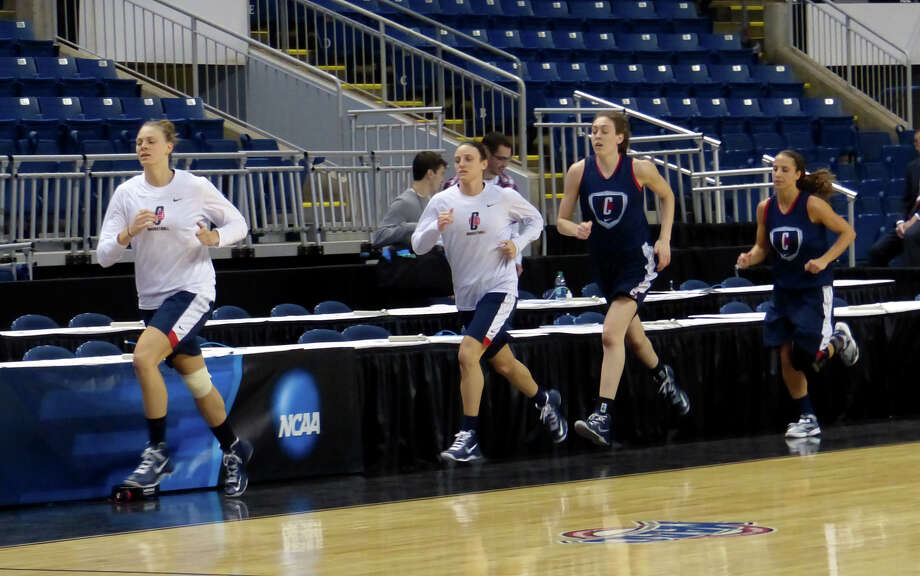 UConn women's team in practice at the Webster Bank Arena in Bridgeport, Conn. on Friday March 29, 2013. The UConn Huskies will play the Maryland Terrapins in the NCAA Bridgeport Regional Semifinals on Saturday March 30th at 2:30. Photo: Christian Abraham / Connecticut Post