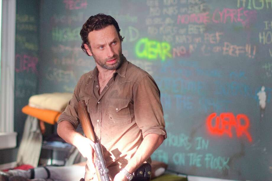 You know actor Andrew Lincoln as Rick Grimes, the morally upright sheriff's deputy with the spotty Southern accent. Photo: Gene Page/AMC